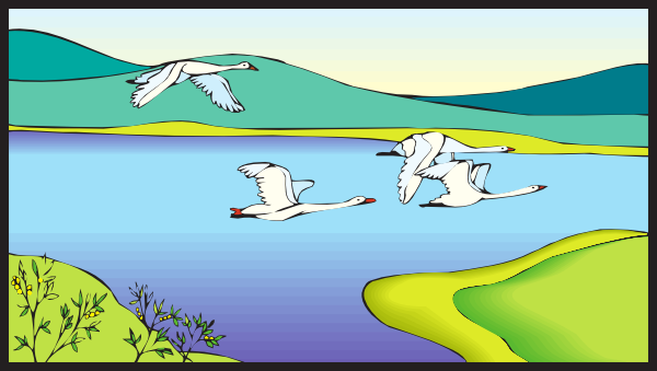 Geese Flying Over A Lake Clip Art At Clk-Geese Flying Over A Lake Clip Art At Clker Com Vector Clip Art-4