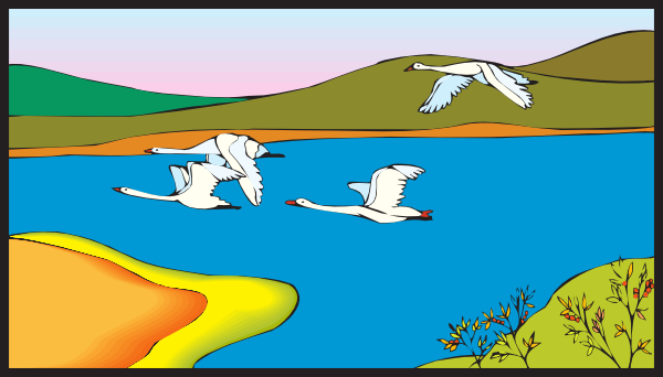 Geese Flying Over A Lake Clip Art At Clk-Geese Flying Over A Lake Clip Art At Clker Com Vector Clip Art-5