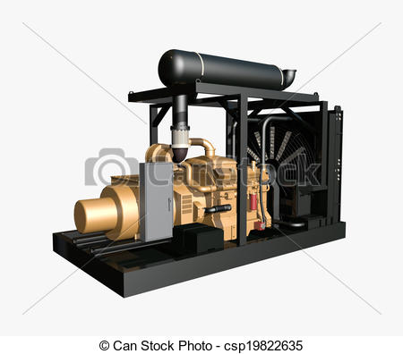 ... Generator isolated on white background