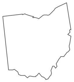 Geo Map Usa Ohio Contour