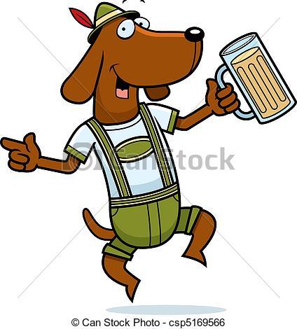 ... German Dog - A Happy Cartoon German -... German Dog - A happy cartoon German dog dancing and smiling.-4