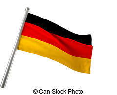 ... germany flag - german flag isolated on white background
