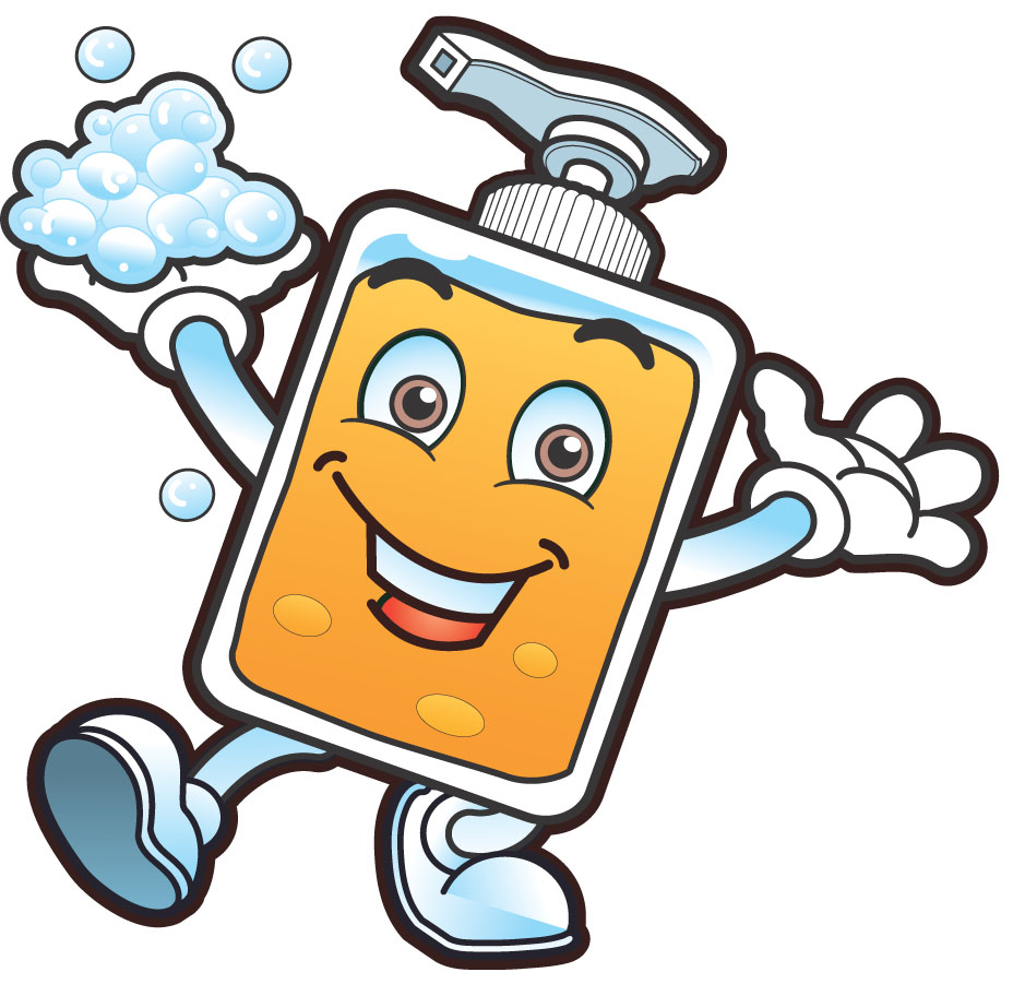 Germs Hand Washing Clipart #1