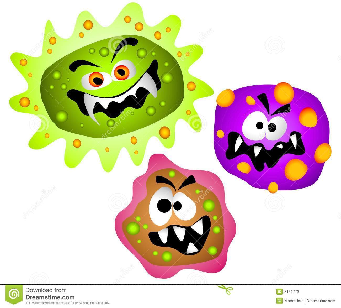 Germs Viruses Bacteria Clipart Stock Pho-Germs Viruses Bacteria Clipart Stock Photos Image 3131773-1