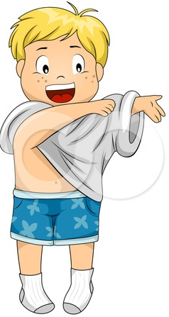 Get Dressed Clip Art Kids 201 - Getting Dressed Clipart