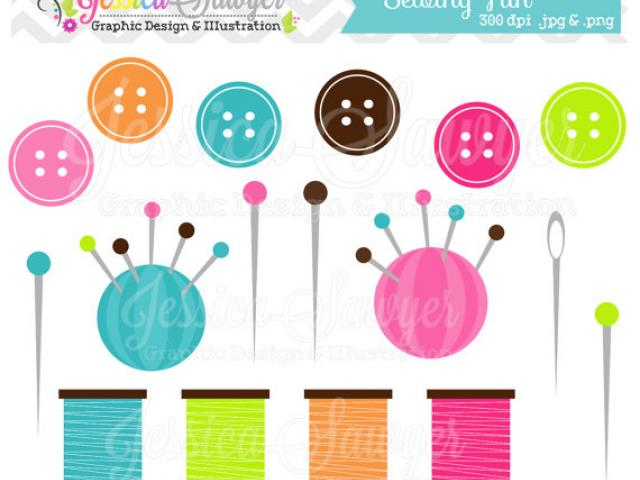 Get Instant Access Button Clipart sewing