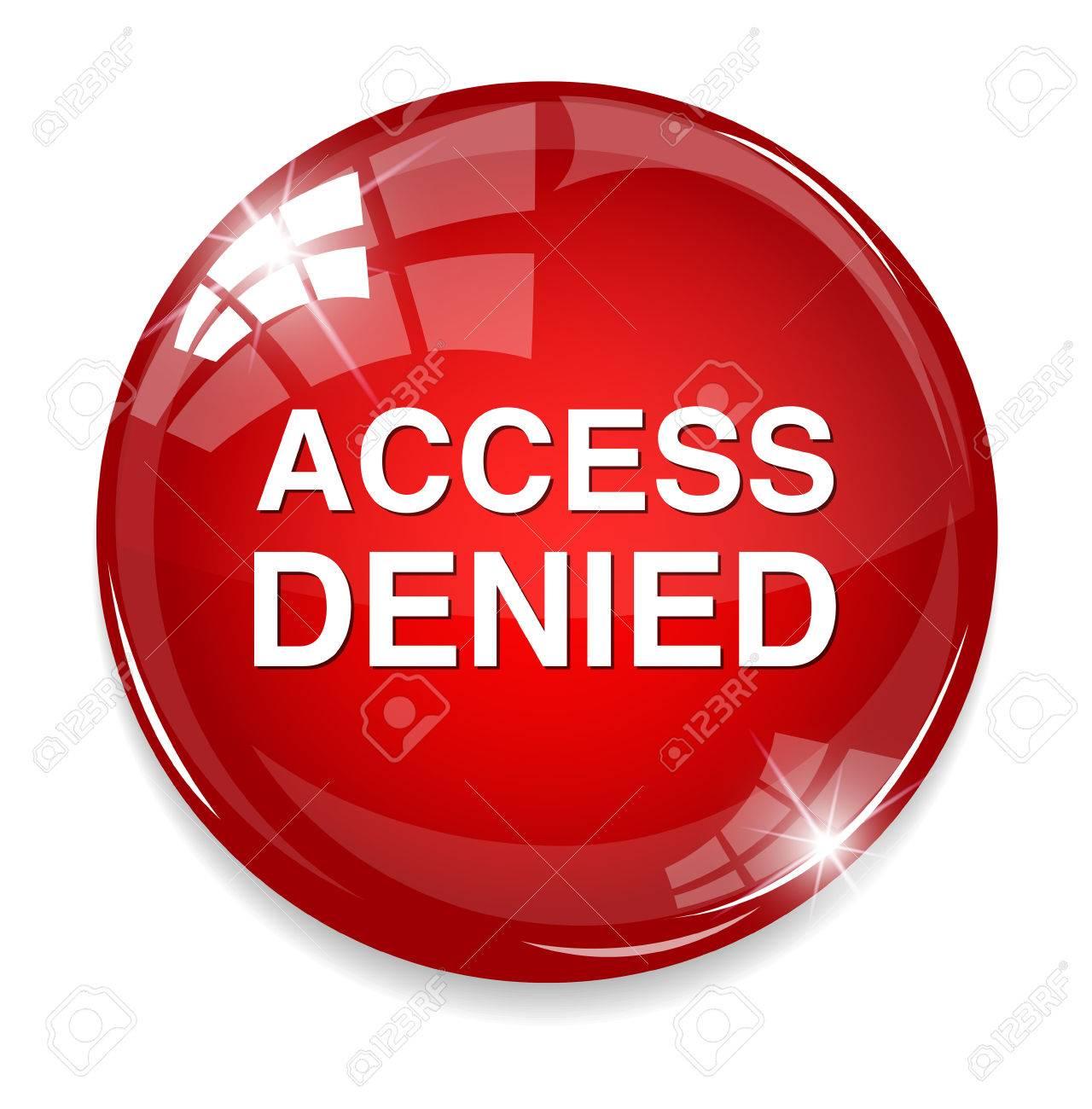 Security concept Access Denied button Stock Vector - 32210541