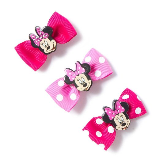 Get Quotations u0026middot; Claireu0026#39;s Accessories Minnie Mouse Mini Bow Hair Clips Set ...