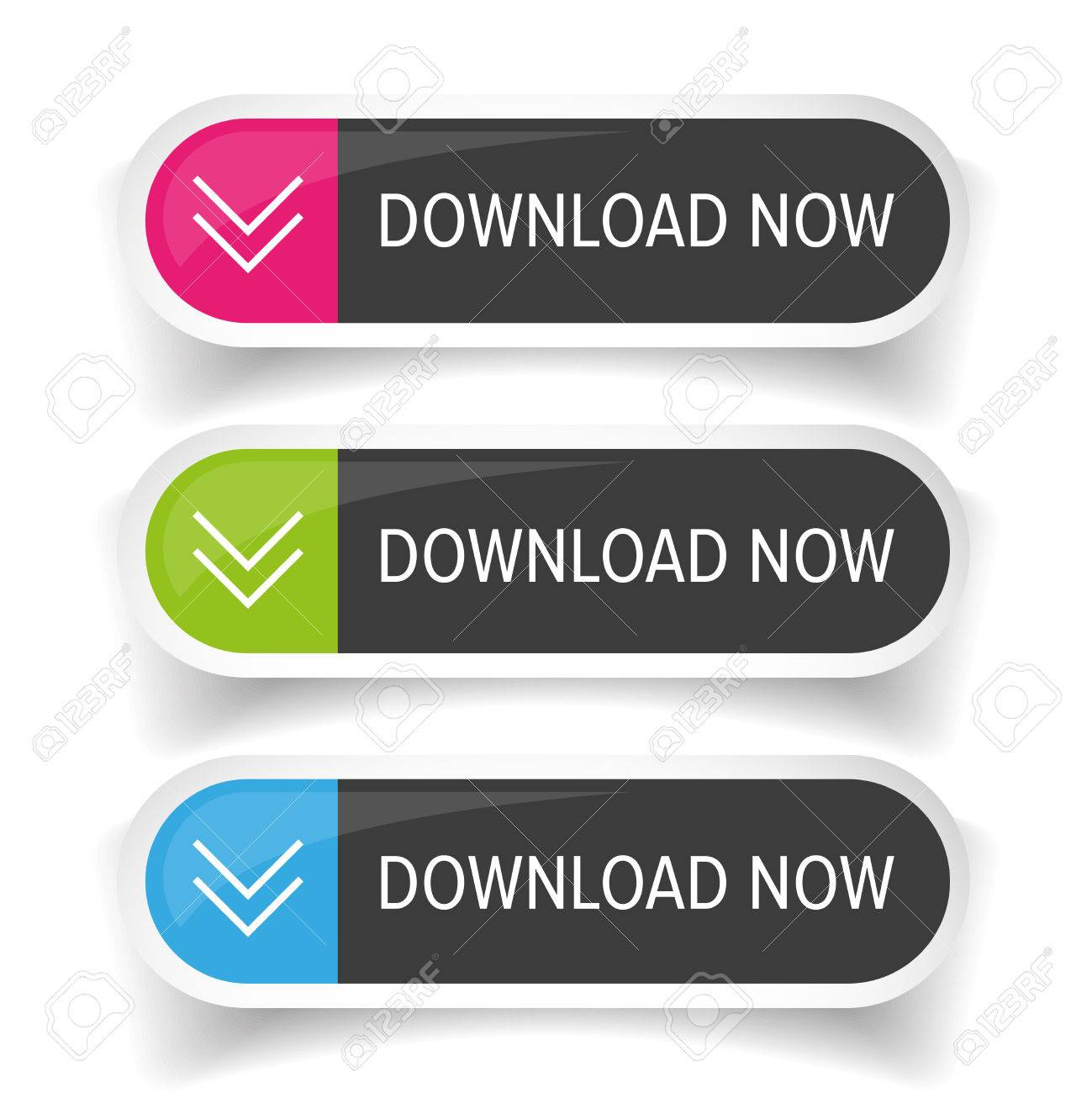 Download Now button set Stock Vector - 67225150