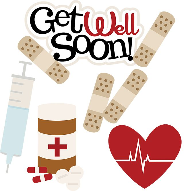 Get Well Soon SVG doctor svg files nurse svg files sick day svg cute clip art