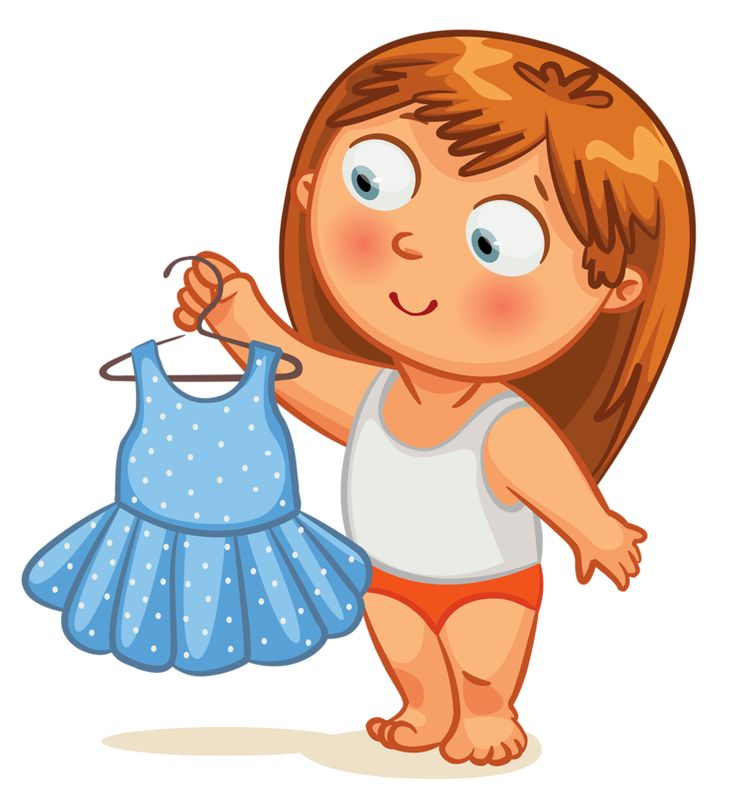 Getting dressed art kids clip - Get Dressed Clipart