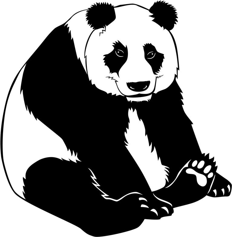 Giant Panda Clip Art - Panda Clipart Free