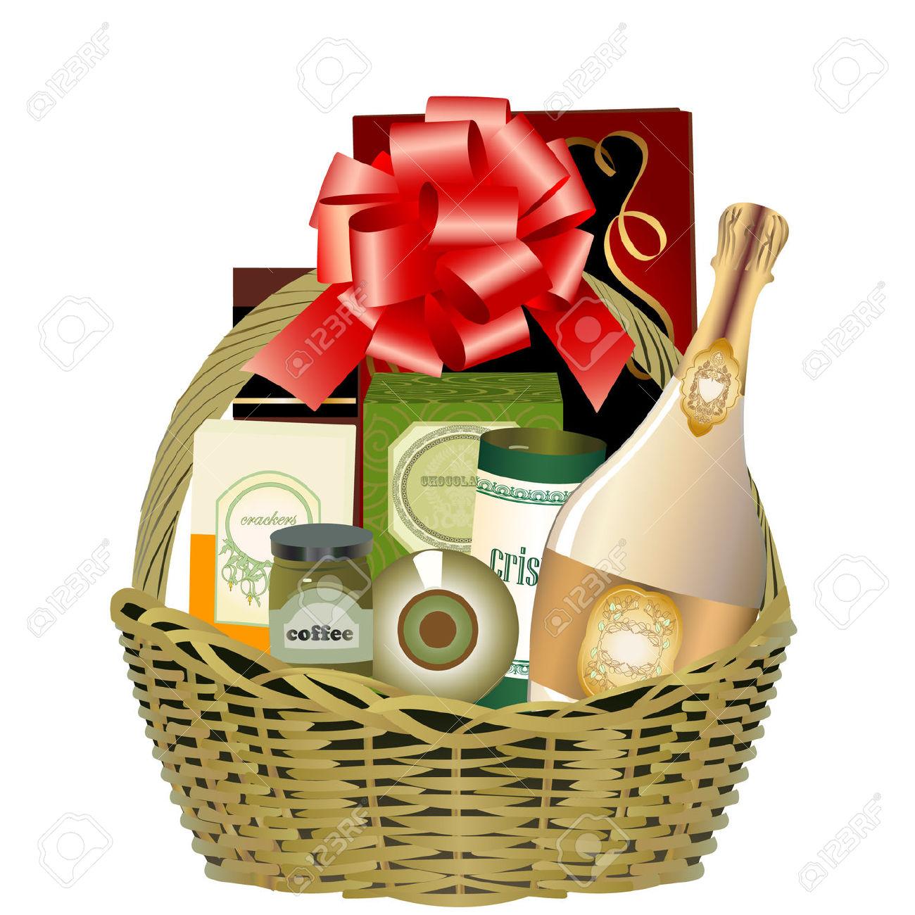 Gift Basket Clip Art #11042