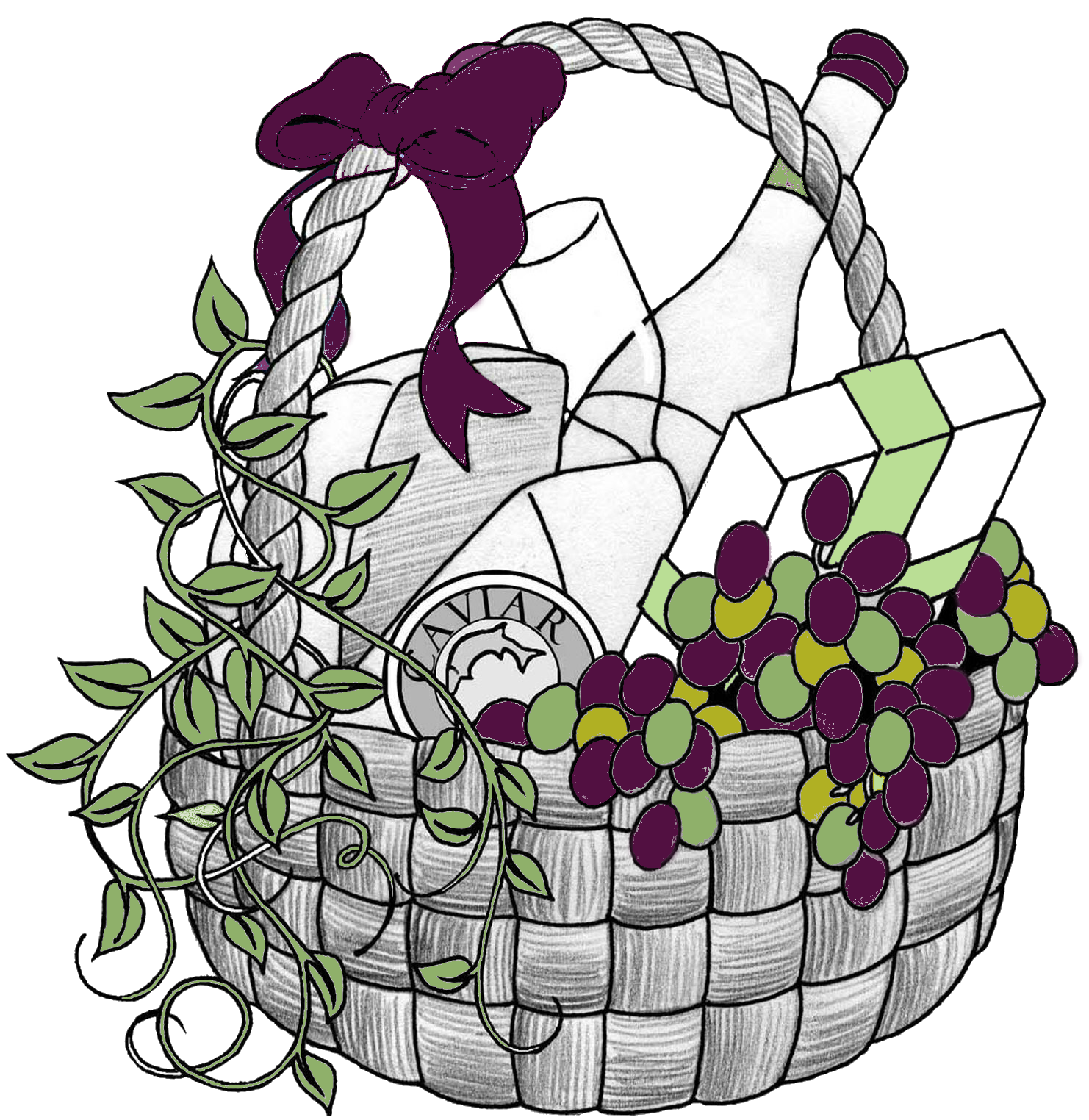 Gift Basket Clip Art #11047
