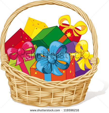 Gift Basket Clipart 170 .