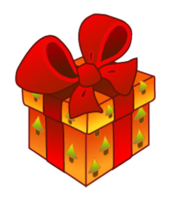 Gift Clipart Christmas Present Box In Red Bow Just Free Image
