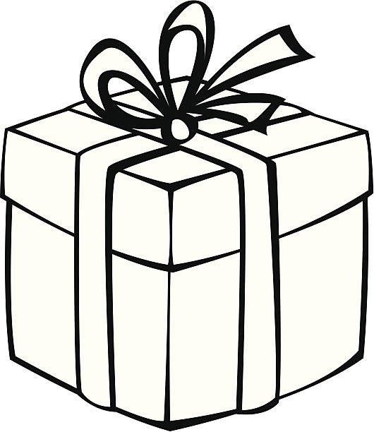 Gift Box Clipart Black And White | Clipart Station for Gift Black And White  2365