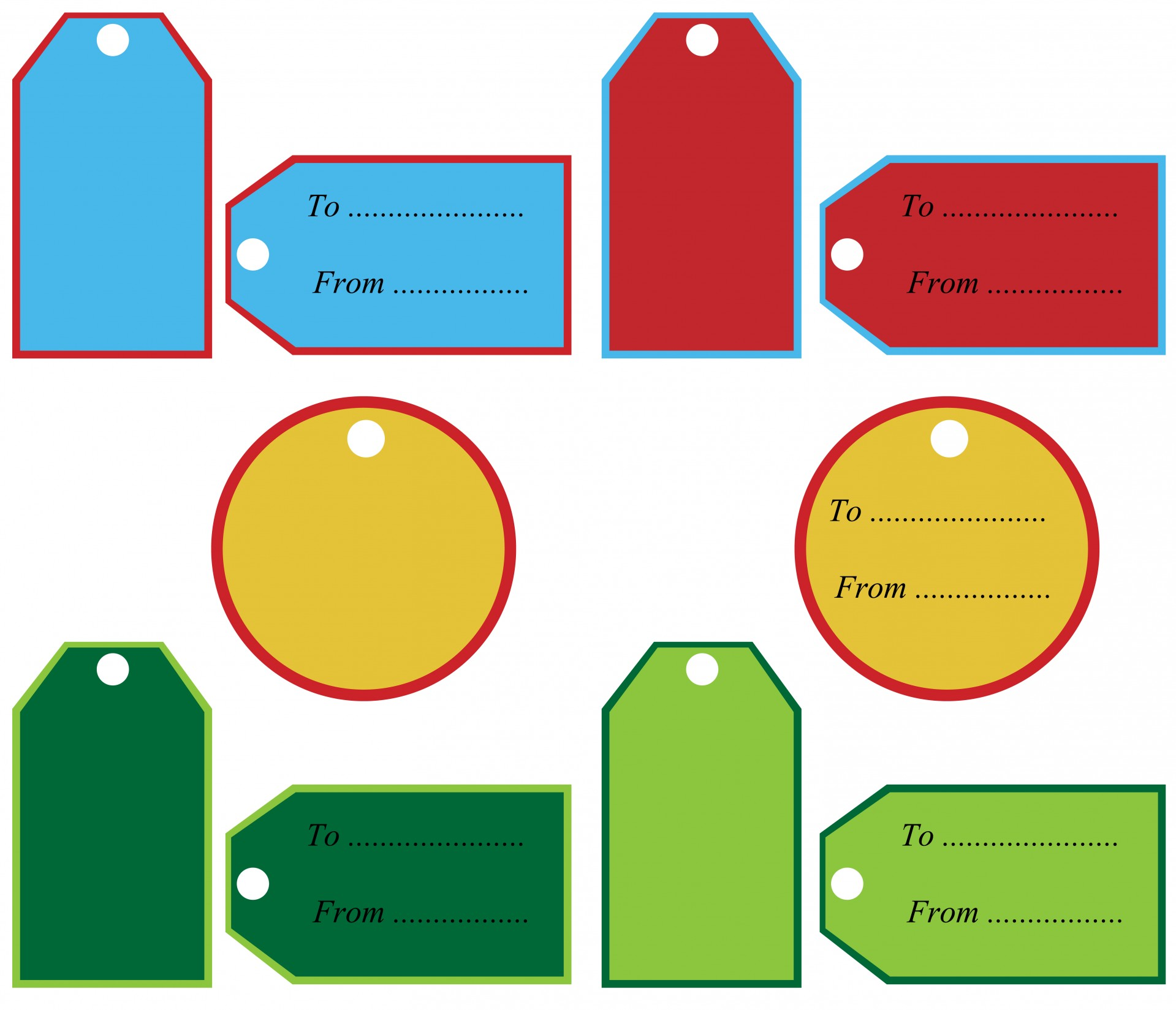 Gift Tags Clipart
