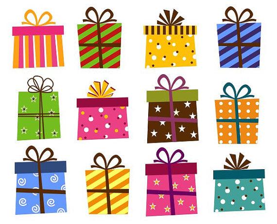 Giftbox Clip Art Present Boxes Clip Art -Giftbox Clip Art Present Boxes Clip Art Instant Download Birthday-11