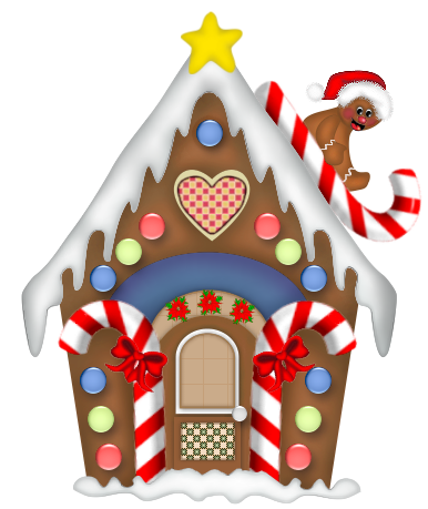 Gingerbread House. Christmas Clipart, Cl-Gingerbread House. Christmas clipart, Clip .-6
