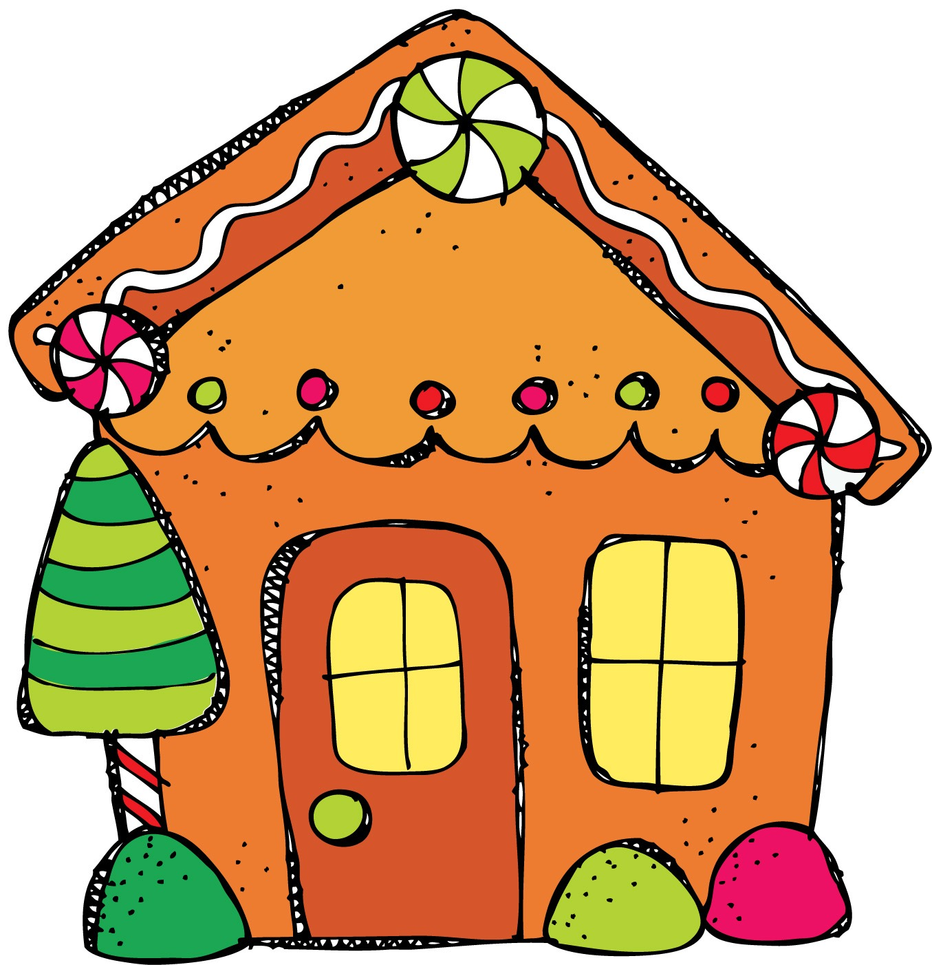 Gingerbread House Clip Art Fr - Gingerbread House Clip Art