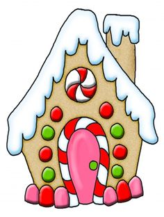 gingerbread house clipart .