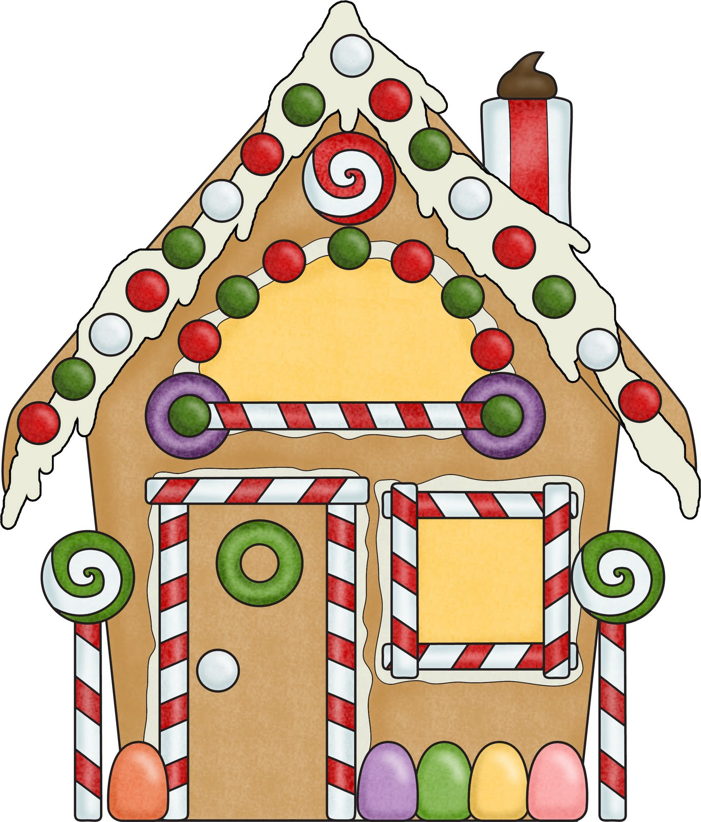 Gingerbread House Outline Clipart Best