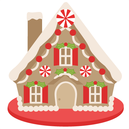Gingerbread House scrapbook . - Gingerbread House Clip Art