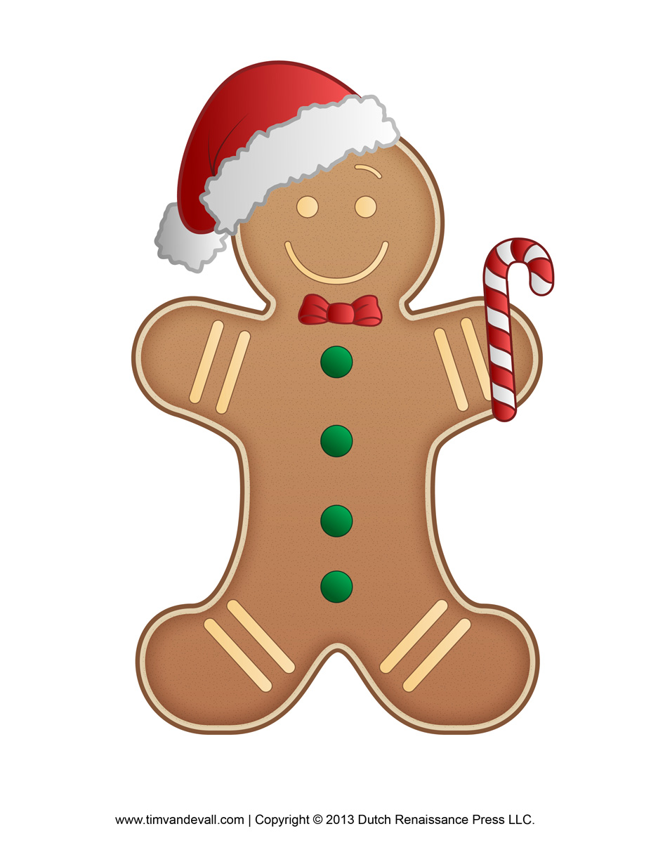 Gingerbread Man Template Clipart Colorin-Gingerbread Man Template Clipart Coloring Page For Kids-18