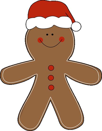 Gingerbread Man Wearing A Santa Hat Clip-Gingerbread Man Wearing A Santa Hat Clip Art Gingerbread Man-19