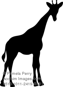 Giraffe Silhouette Clip Art-giraffe silhouette clip art-3