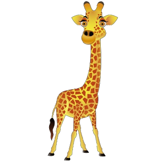 Giraffe Cartoon Animal Clip .-Giraffe Cartoon Animal Clip .-8