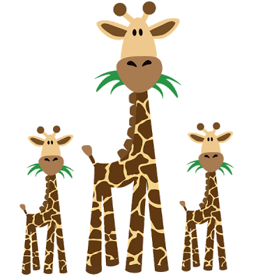 Giraffe Cartoon Animal Clip .