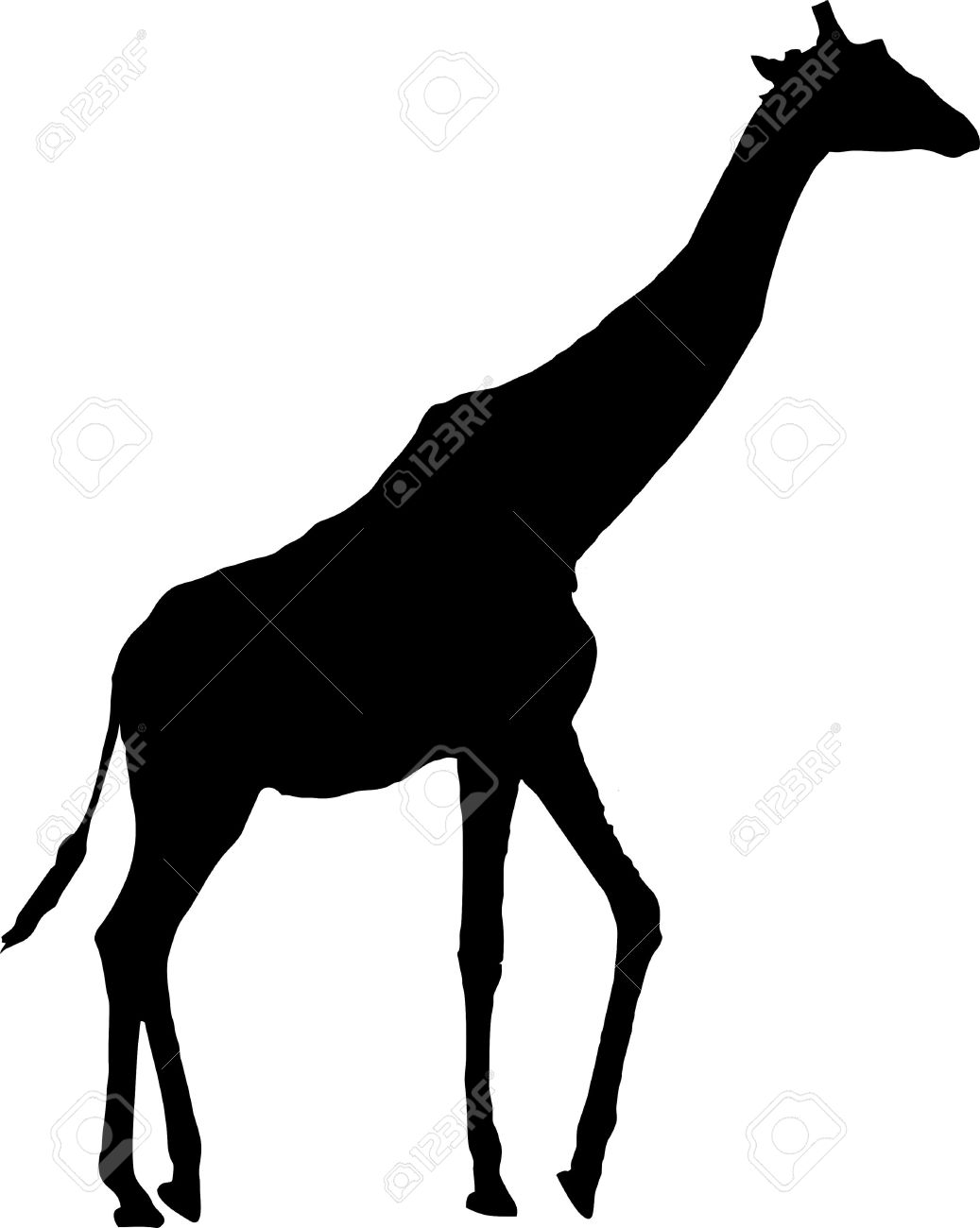 Giraffe Silhouette Isolated Vector Illus-Giraffe Silhouette Isolated Vector Illustration Royalty Free. Print Save this clip art-17
