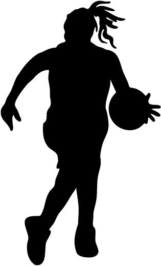 girl basketball player clipart