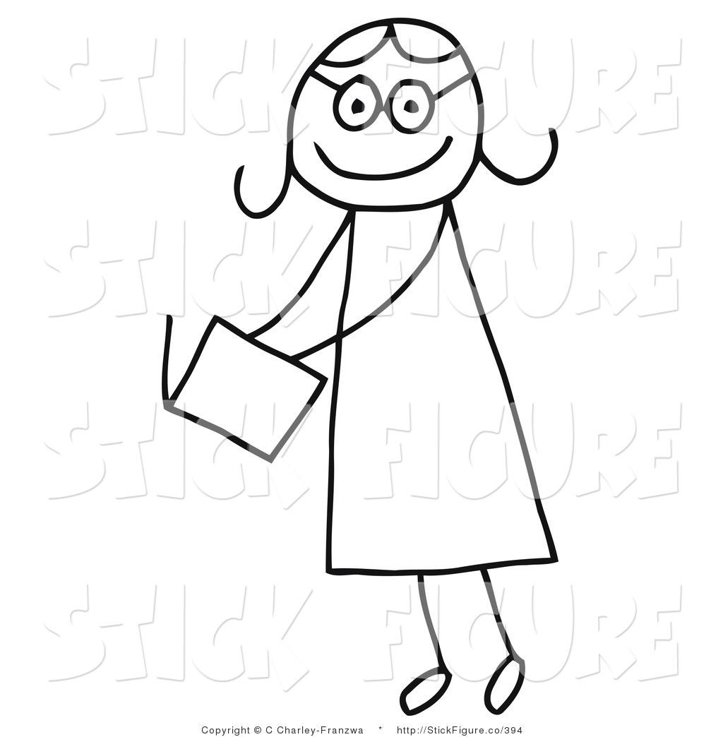 Girl Clipart Stick Figure-girl clipart stick figure-8