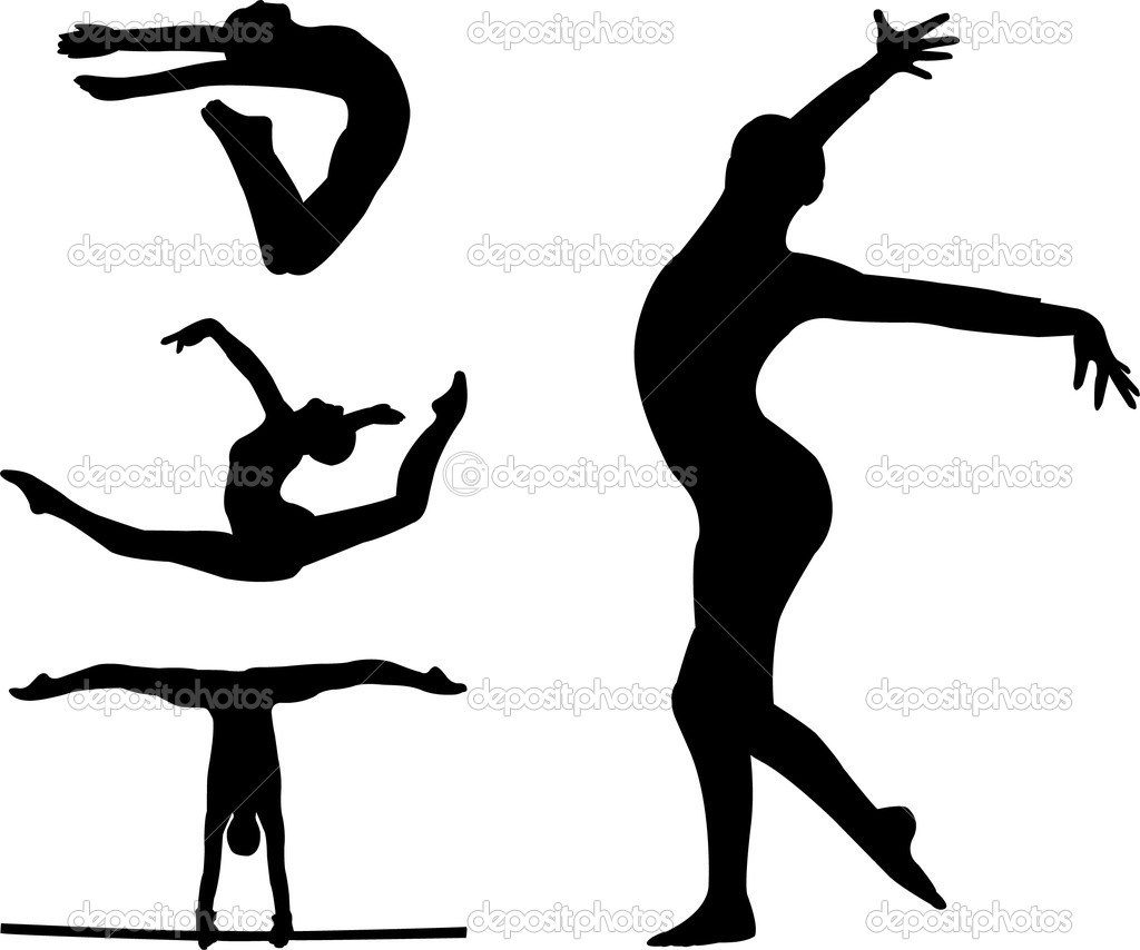 girl gymnastics clipart silhouette