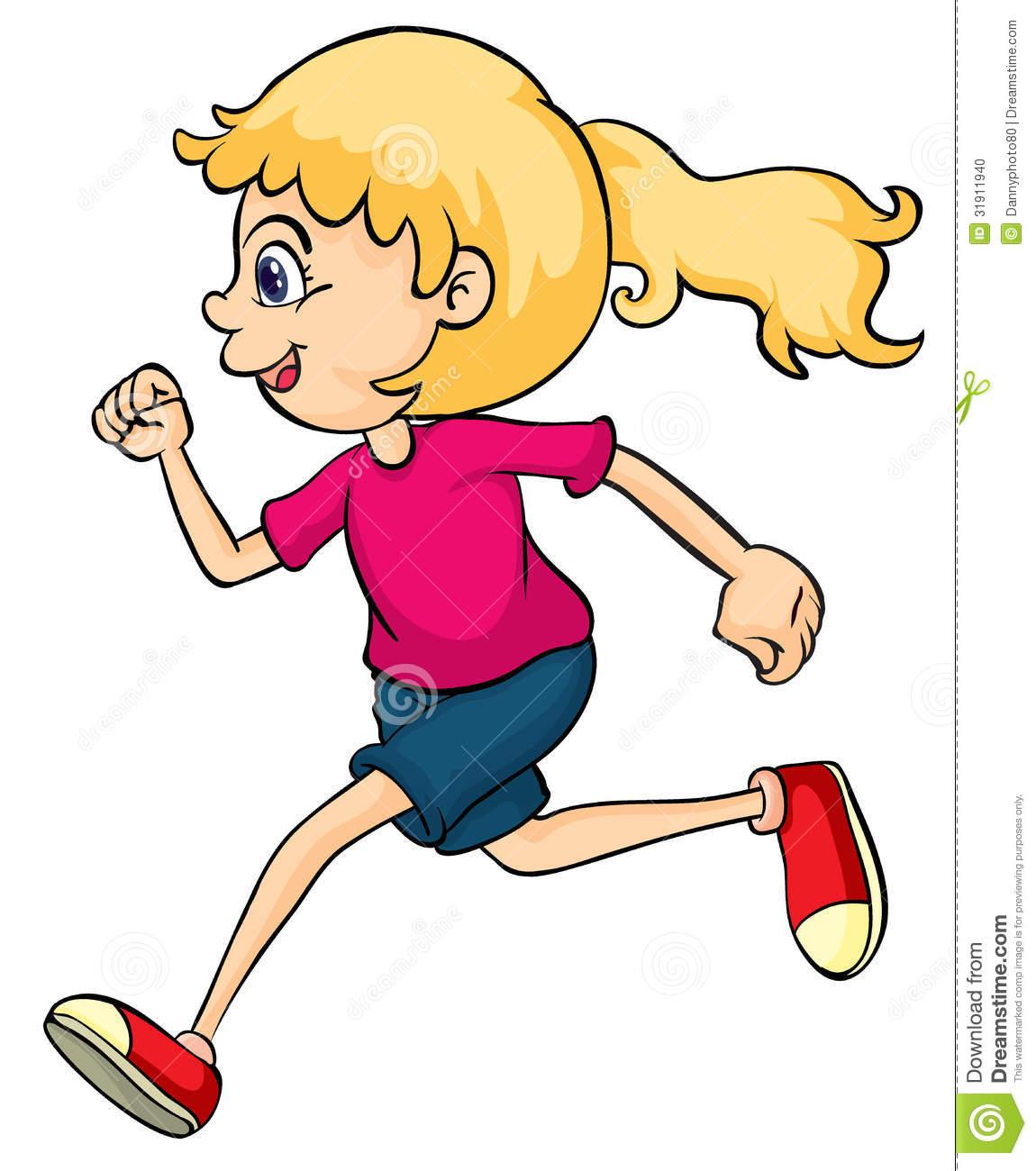 girl running clipart - Clip Art Running