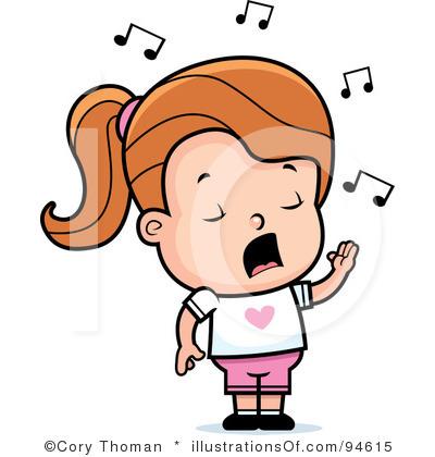 girl singing clipart