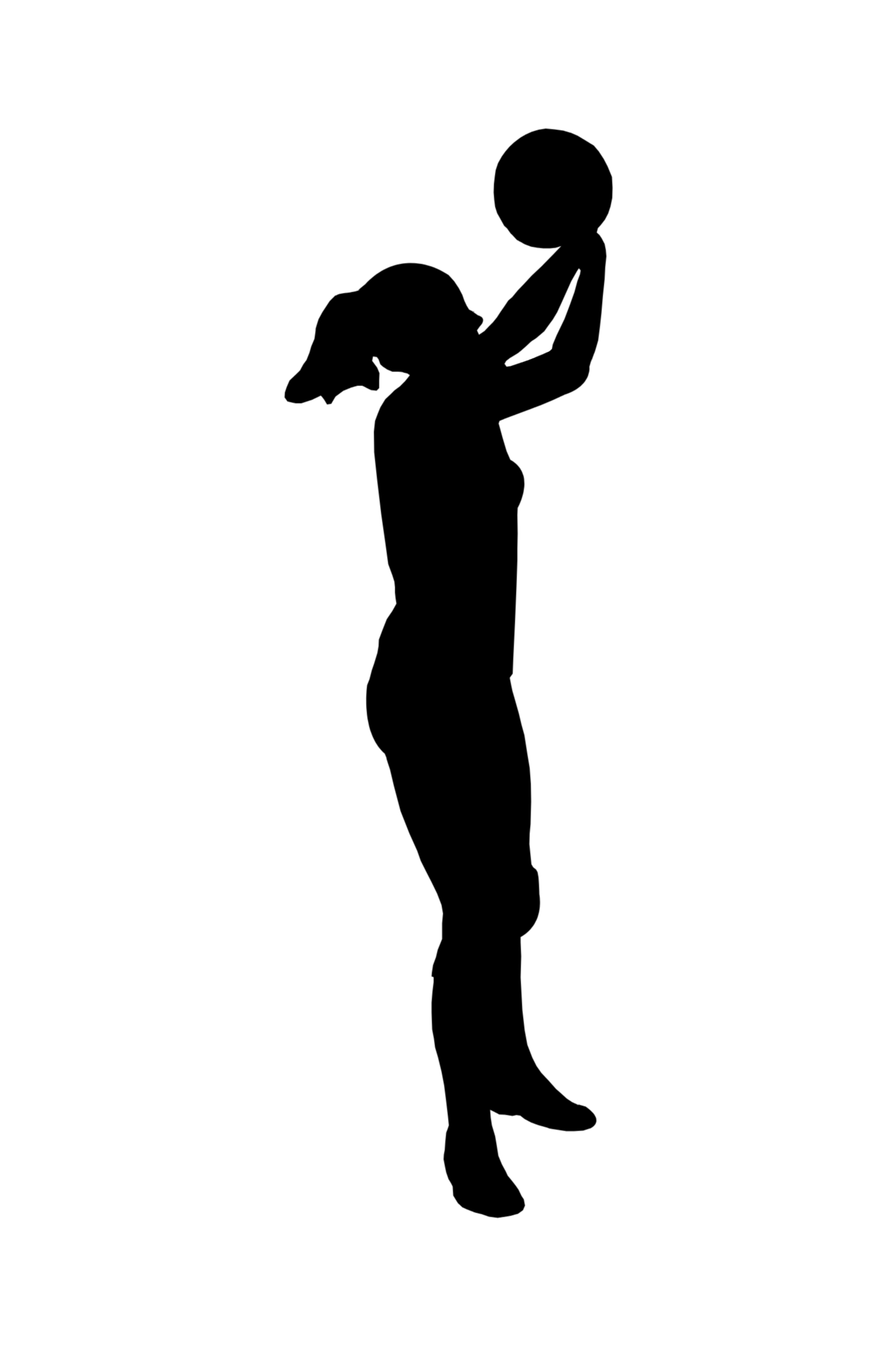Girl Basketball Player Outline Clipart Free Clip Art Images