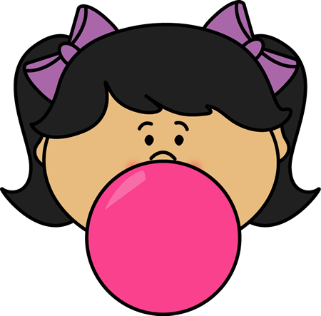 Girl Blowing Bubblegum Bubble-Girl Blowing Bubblegum Bubble-11