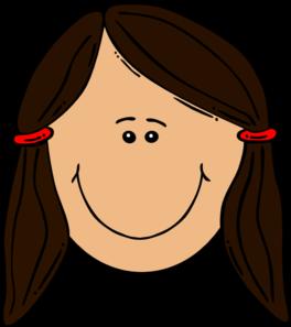 Girl Brown Hair Clip Art At Clker Com Vector Clip Art Online