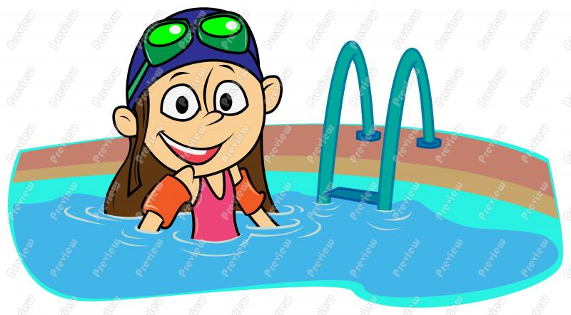 Girl Child Swimming Clip Art ..-Girl Child Swimming Clip Art ..-6