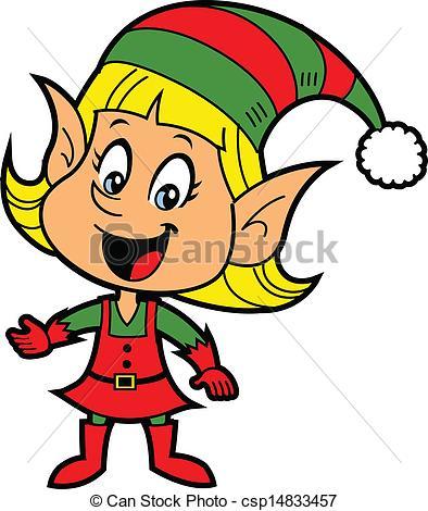 ... Girl Christmas Elf - Happy Smiling B-... Girl Christmas Elf - Happy Smiling Blonde Girl Christmas.-18