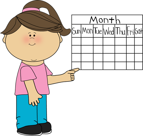 Girl Classroom Calendar Job