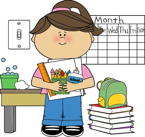 Girl Classroom Job Subsitute  - Classroom Jobs Clipart