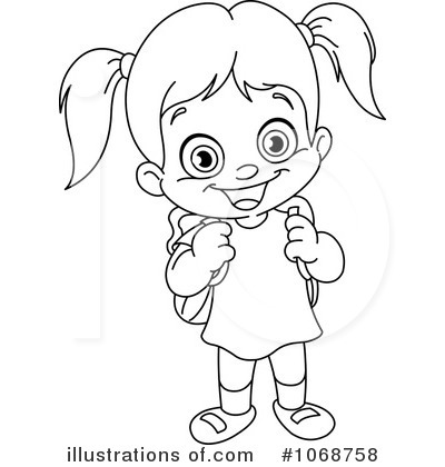 Girl Clipart Black And White-girl clipart black and white-13
