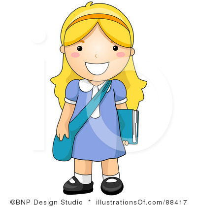 Girl Clipart Illustration .