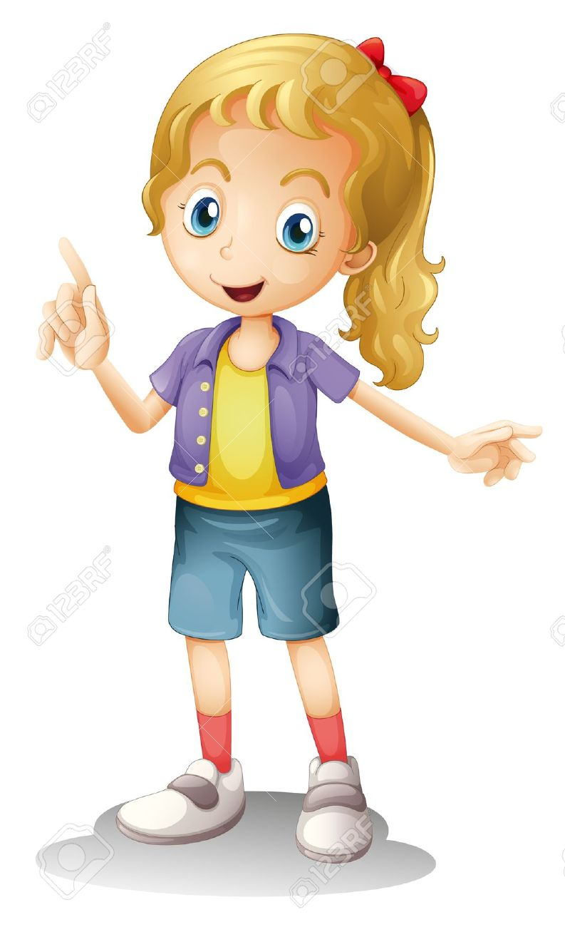Girl Clipart Illustration . Vector - illustration of a .
