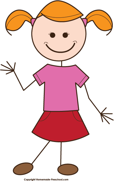 Girl Clipart Stick Figure .